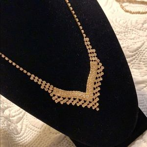 Gold and silver tones vintage necklace